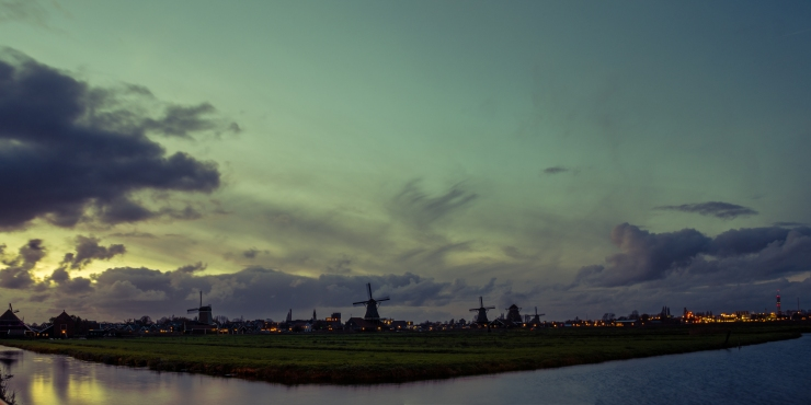 Panorama of Zaanse Schans