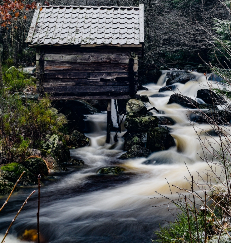 Long exposure of waterfall with Frizeid Kverna in Norway