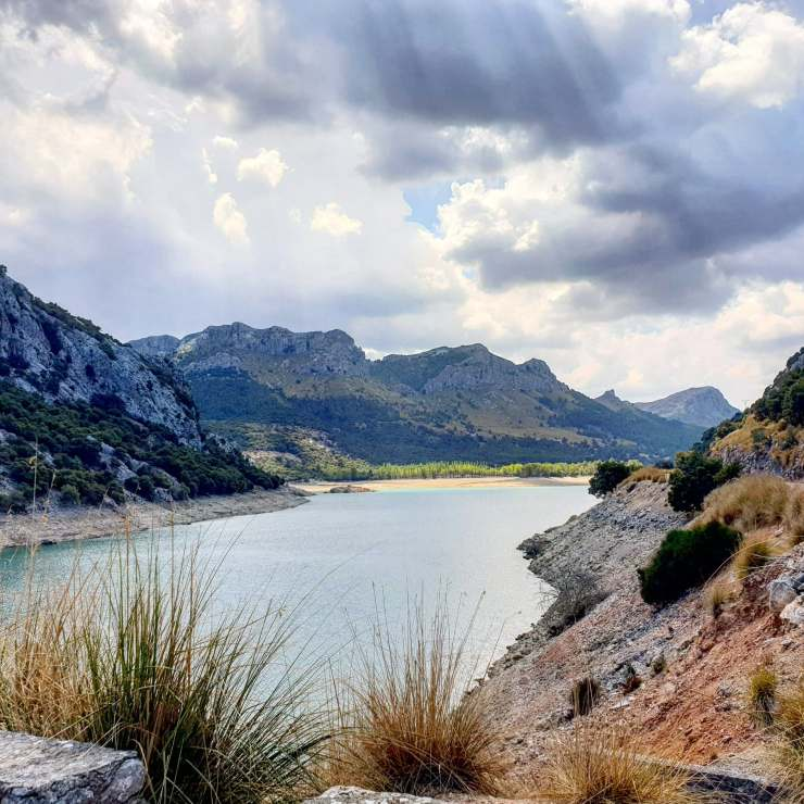Gorg blauw is the fresh water reservoir on Mallorca